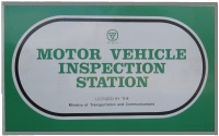 Motor Vehicle Inspection Station